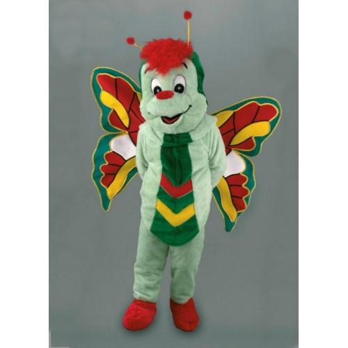 Mascotte Papillon vert