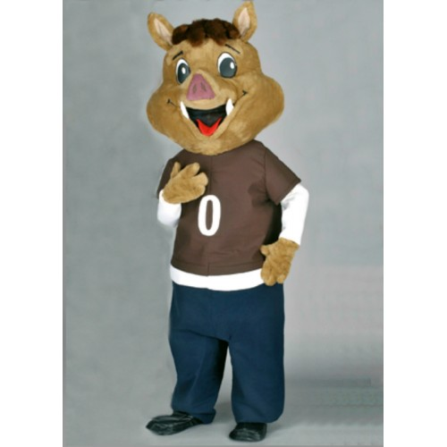 Mascotte Sanglier brun