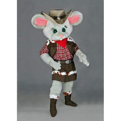 Mascotte Souris cowgirl