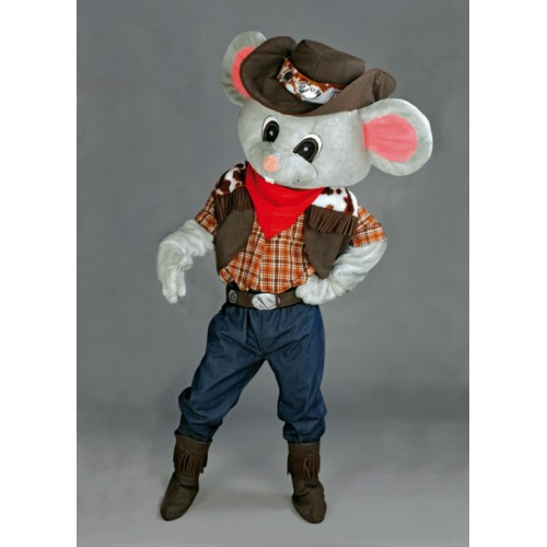 Mascotte Souris cowboy