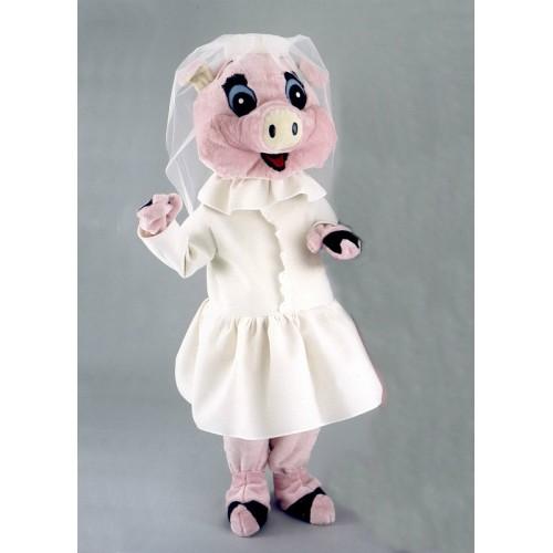 Mascotte Mariée cochon