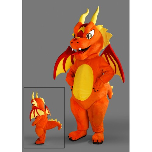 Mascotte Dragon orange