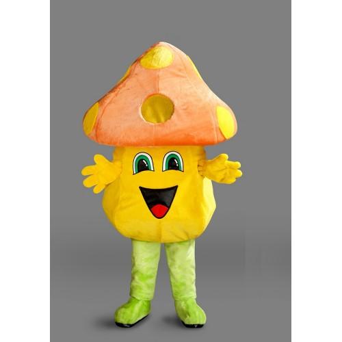 Mascotte Champignon jaune