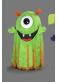 Mascotte Extraterrestre vert