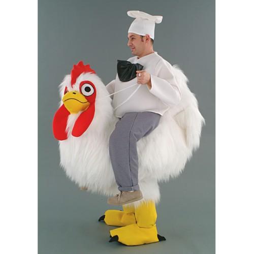 Cuisinier sur sa poule