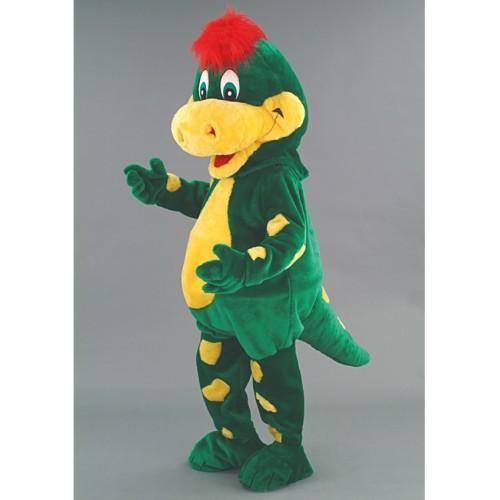 Mascotte Dragon à la créte rouge