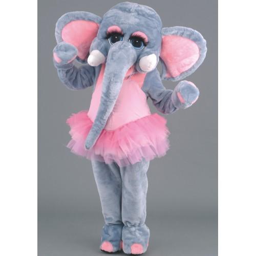 Mascotte Eléphant danseuse