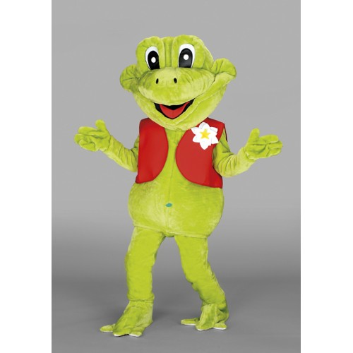 Mascotte Grenouille gilet rouge