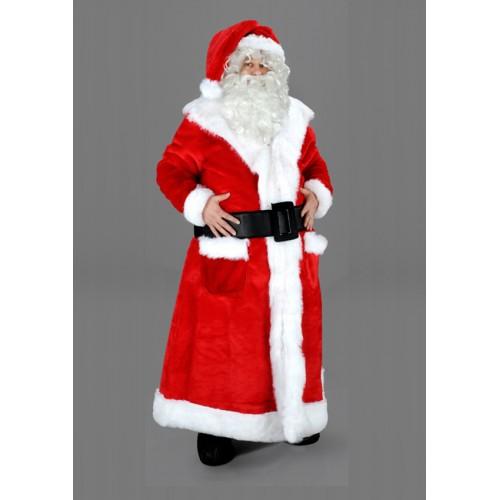 Mascotte Père Noël manteau