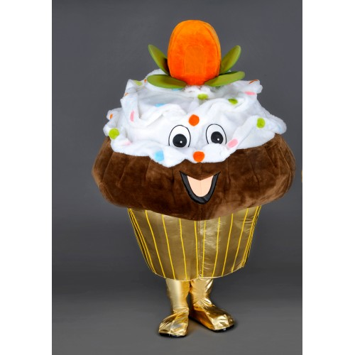 Mascotte Cupcake chocolat