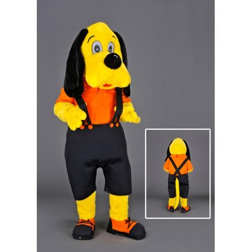 Mascotte Chien jaune