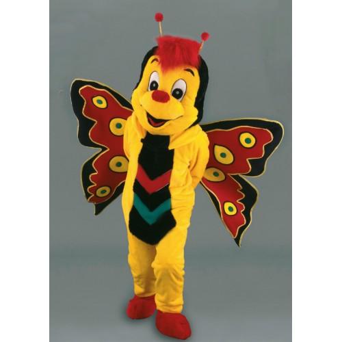 Mascotte Papillon Jaune