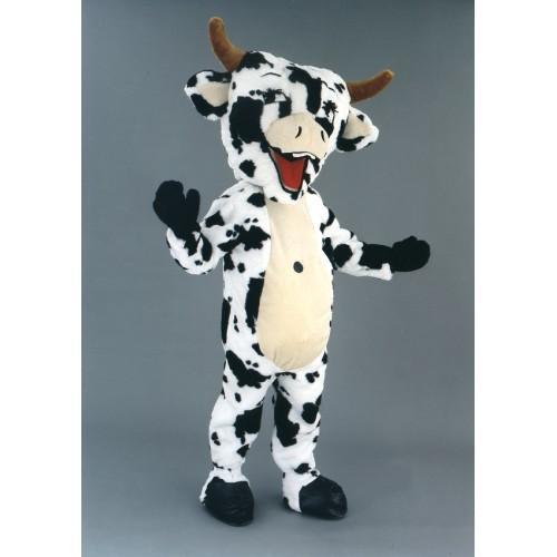 Mascotte Vache blanche et noire