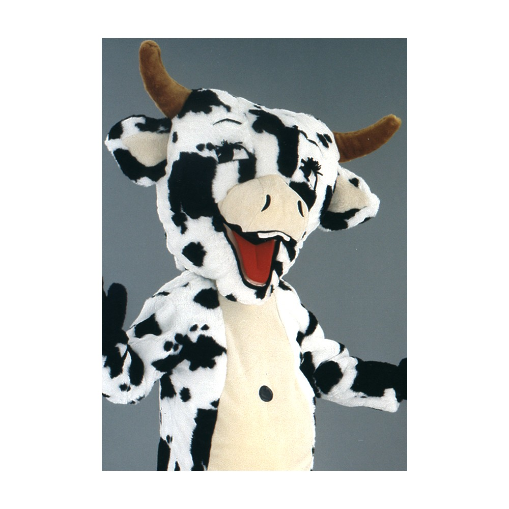 mascotte vache blanche et noire. Black Bedroom Furniture Sets. Home Design Ideas