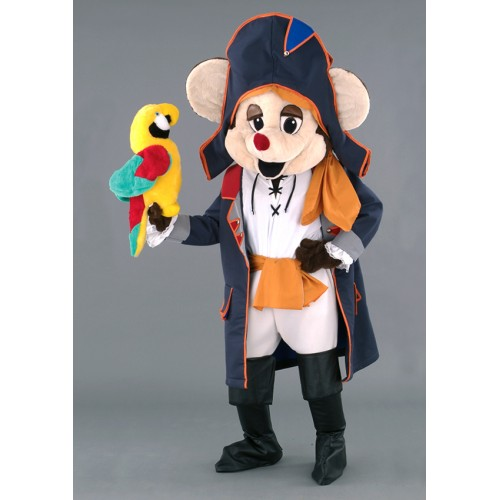 Mascotte Souris pirate