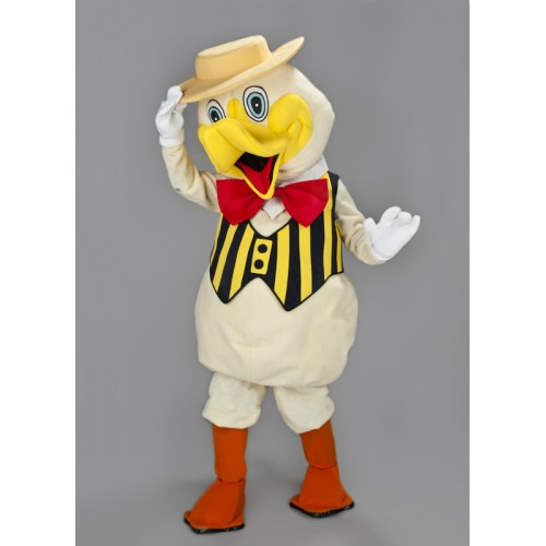 Mascotte Canard veste à rayure